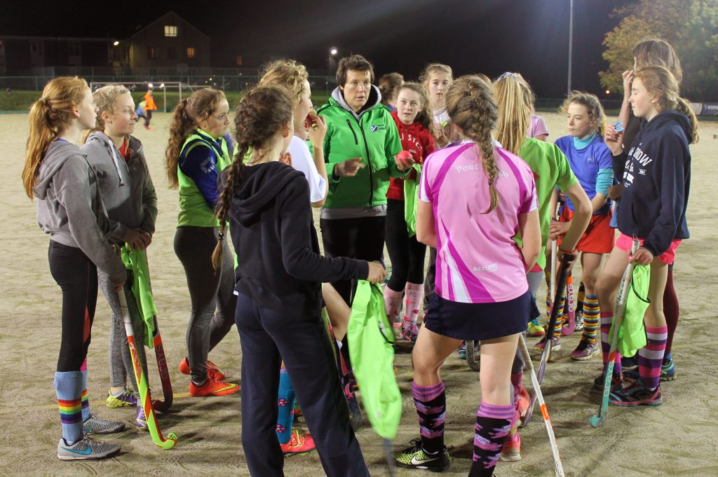 Waterford Hockey Club Junior Girls coaching.