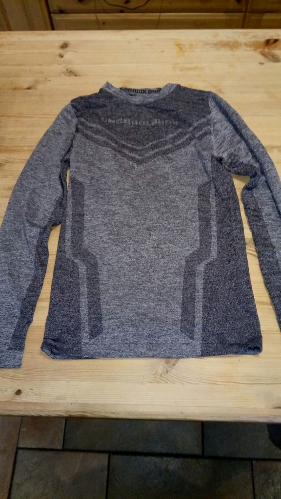 Grey under armour left on Newtown hockey pitch, Oct 2017. Contact Shirley Moore: 087 2307450