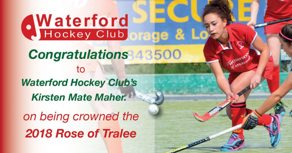 Waterford Hockey Club's Kirsten Mate Mater crowned 2018 Rose of Tralee