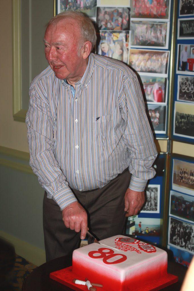 Waterford Hockey Club 80th birthday cake cutting ceremony.