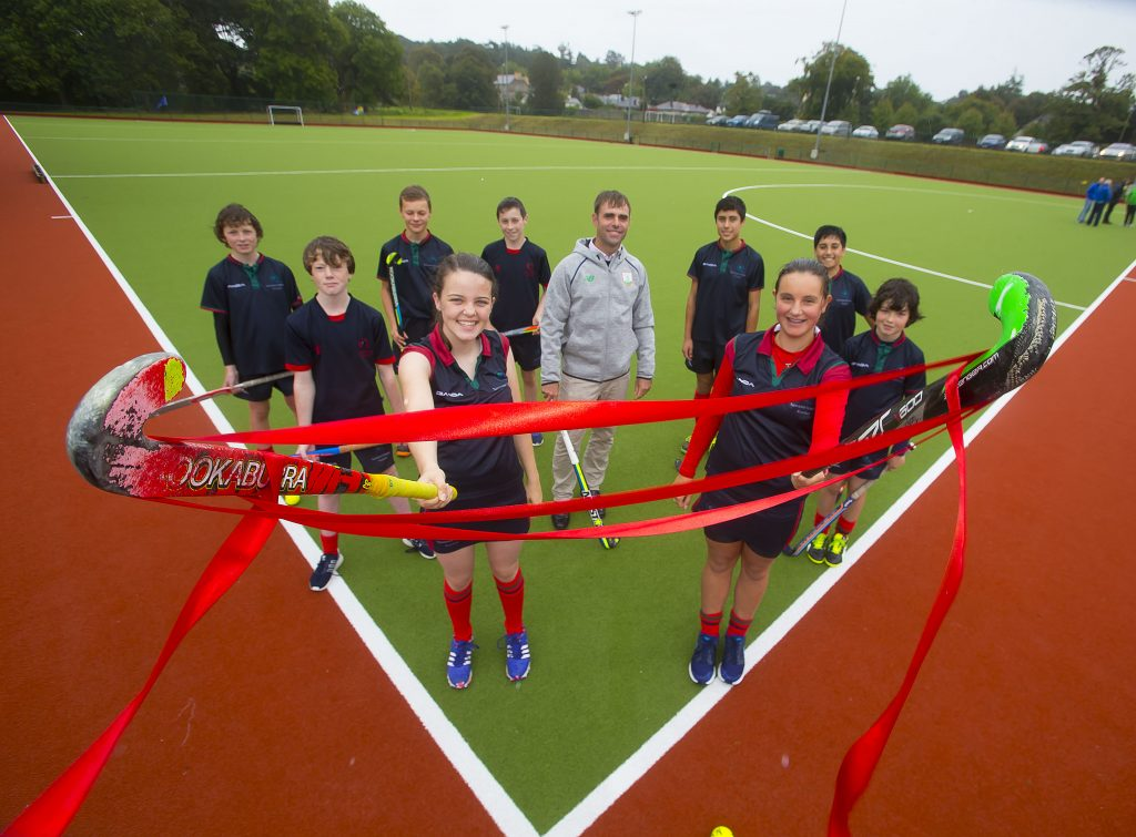 Saturday 24th September 2016 a new 'Tiger Turf' hockey pitch at Newtown School Waterford was opened by Craig Fulton, Irish Men's Olympic Hockey coach.