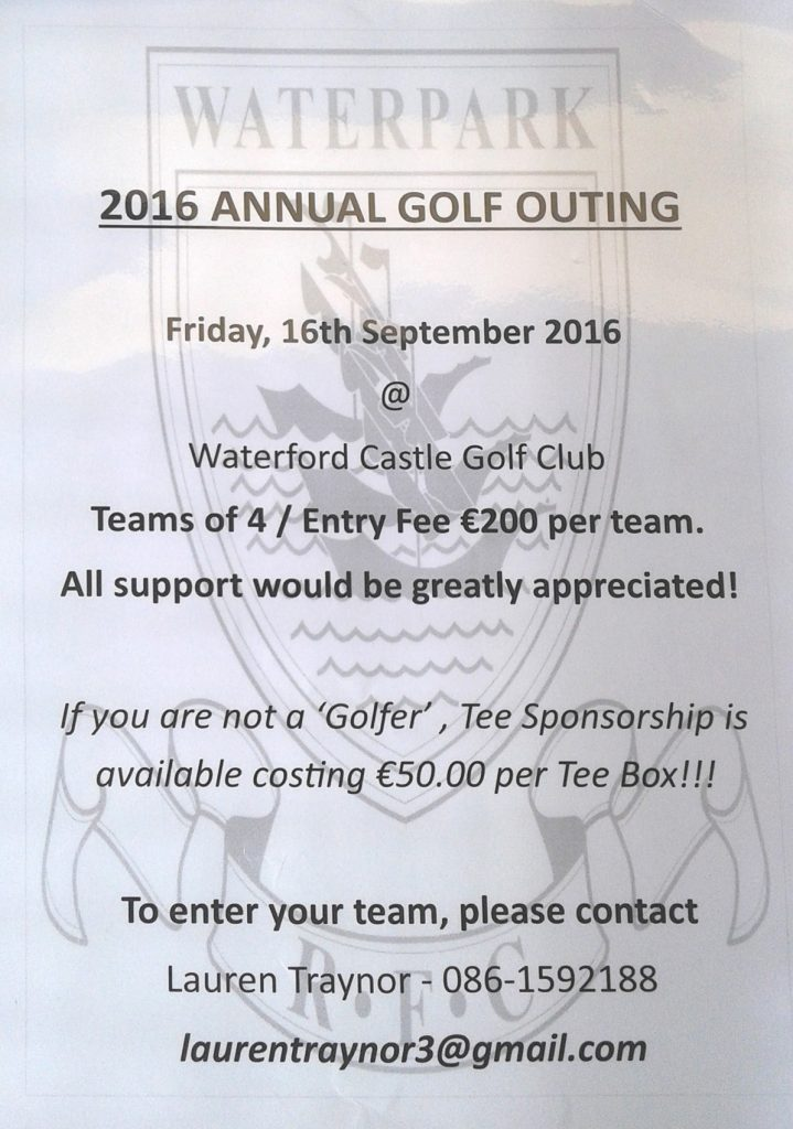 Waterpark 2016 Annual Golf Outing